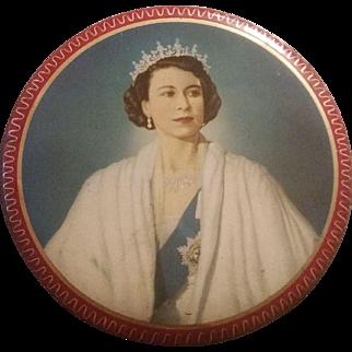 Souvenir tin for Coronation 1953 Queen Elizabeth