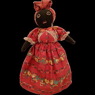 Vintage Folk Art Black Americana Doll