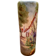 RARE Antique Vienna Austria Hand Painted Antique Porcelain Vase
