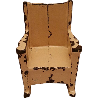 Kilgore Cast Iron Rocking Chair Doll House Furniture Vintage Toys