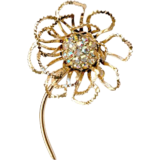 "Vintage Sarah Coventry Flower Brooch ""Allusion"""