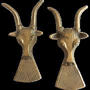 Vintage Solid Brass Gazelle