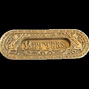 Vintage Brass Mail Slot