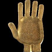 Vintage Brass Hand Ashtray