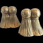Brass Tassel Bookends