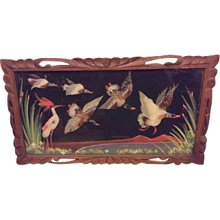 Vintage Mexican Folk Art Feathercraft