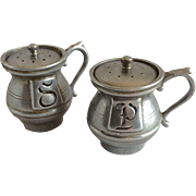Wilton RWP Pewter Salt & Pepper Shakers