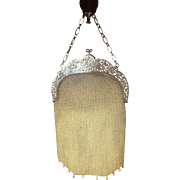 1920 Silver Mesh Handbag