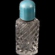 Cut Crystal and Enamel Perfume Bottle