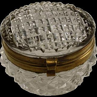 Victorian crystal dresser box