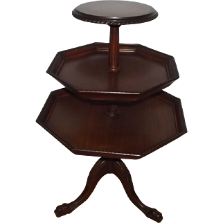 Early 20th Century English Dumbwaiter Table