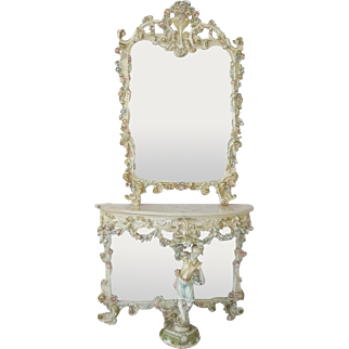 Early 20th Century Italian Console Table with Mirror