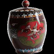 Antique Chinese Cloissone Jar