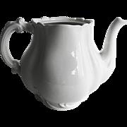 Haviland & Co Marseille all white Tea Pot