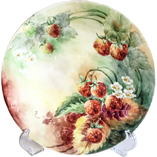J.P. Limoges France Artist Signed Hand Painted Charger Plate
