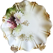 Stunning Dresden Porcelain B.T. Co hand painted charger