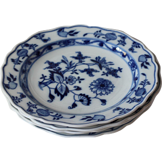 Meissen Blue Onion Salad Plates