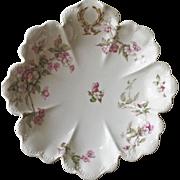 Haviland & Co. Limoges Pink Roses Oval Serving Bon Bon