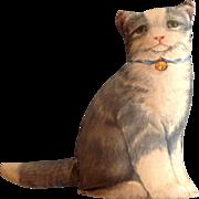 Vintage Stuffed Litho Printed Cloth Kitty Cat