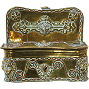 Antique Brass Match Safe