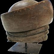 Canadian Vintage Wooden Hat Mold