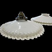 1920's Ruffled Lamp Shade / Pendant Light