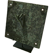 Antique English Bronze Square Sundial