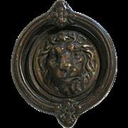 Georgian Antique Cast Brass Lion motif Door Knocker