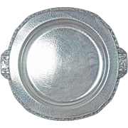 Superb Homan Egyptian Revival Silver Plated Round Tray