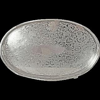 Pristine XL 1860's Sheffield William Adams Silver Plated Galley Tray