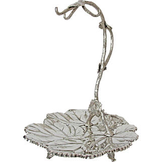 English Silver Plated Serving Dish for Grapes Circa: 1875