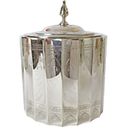 Very Fine Lunt Silversmiths Tea Caddy or Biscuit Keeper Circa: 1935