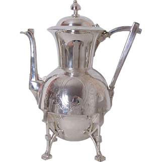 Very Fine Webster Mfg Co Silver Plated Teapot Pat Date 1870