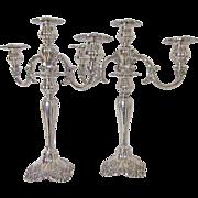Lovely Pair Wallace Baroque Silver Plated Candelabra Circa: 1941