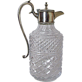 Silver Plated and Crystal Wine Decanter Very Fine Piece