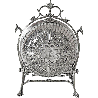 Very Fine Sheffield Fenton Bros Silver Plated Biscuit Warmer and Server C: 1875 - 1895