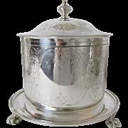 Very Fine William Hutton Sheffield Biscuit Keeper Circa: 1864 - 1870