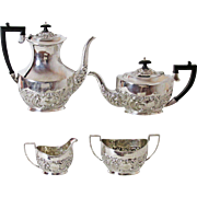 Sheffield Silver Plated 4 Pc Tea and Coffee Service Made for John Wanamaker