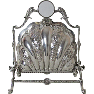 Very Elegant English Silver Plated Biscuit Box Warmer and Server