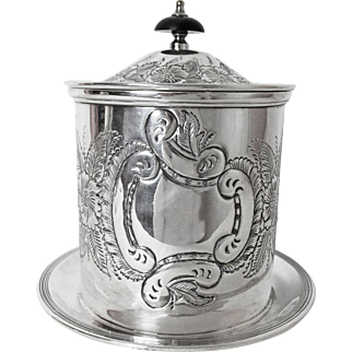 Very Fine English Sheffield Silver Company Silver Plated  Biscuit Keeper Kentshire Pattern