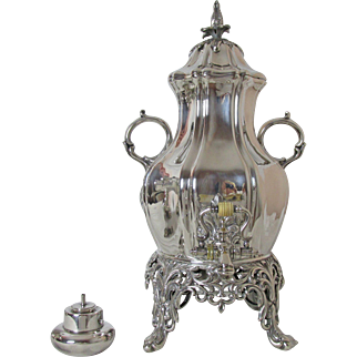 Spectacular Early Reed and Barton Samovar or Hot water Urn 23 Eight Ounce Cups