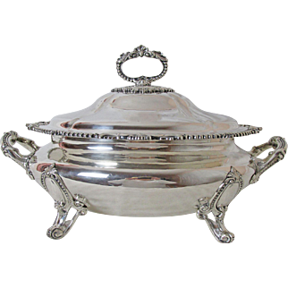 Exquisite Sheffield Martin Hall & Company Silver Plated Covered Tureen Circa: 1854 - 1875