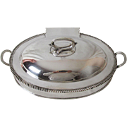 Very Fine Old Sheffield Circa: 1820 3-Piece Silver Plated Cheese Toast Warmer