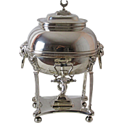 1820 – 1830 36 Cup Sheffield Silver Plated Samovar or Hot Water Urn Lion Head Handles & Maiden Feet