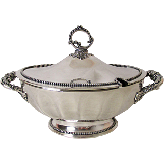 Stately Antique Wilcox Silver Plated Soup Tureen Circa: 1800's
