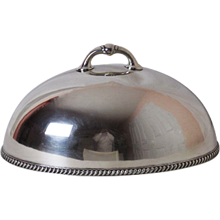 Exceptional Wallace Bros Silver Plated 16 Inch Meat Dome Platter Cover