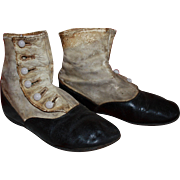 Child's Victorian High Button Shoes