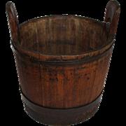 Nineteenth Century New England wood bucket