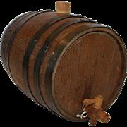 6 Banded Wooden Keg w/ Spout