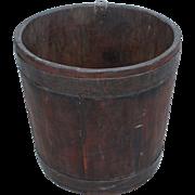 New England  Pine Staved Bucket